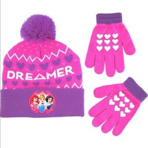 Girls' Little Princess Character Hat and Gloves